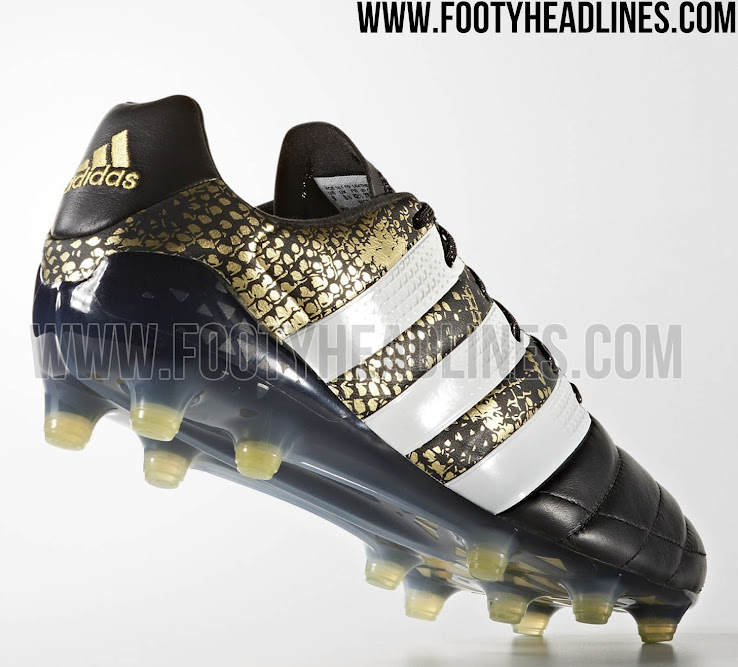 Black   Gold Adidas Ace 2016-2017 Leather Stellar Pack Boots ... b22082144855