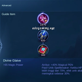 penjelasan lengkap item mobile legends item divine glaive