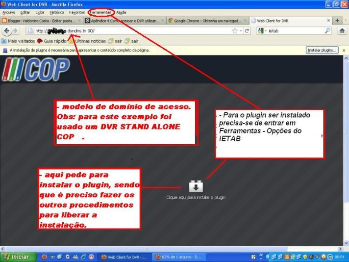 ACESSO REMOTO DVR COM FIREFOX E CHROME :: VCAM