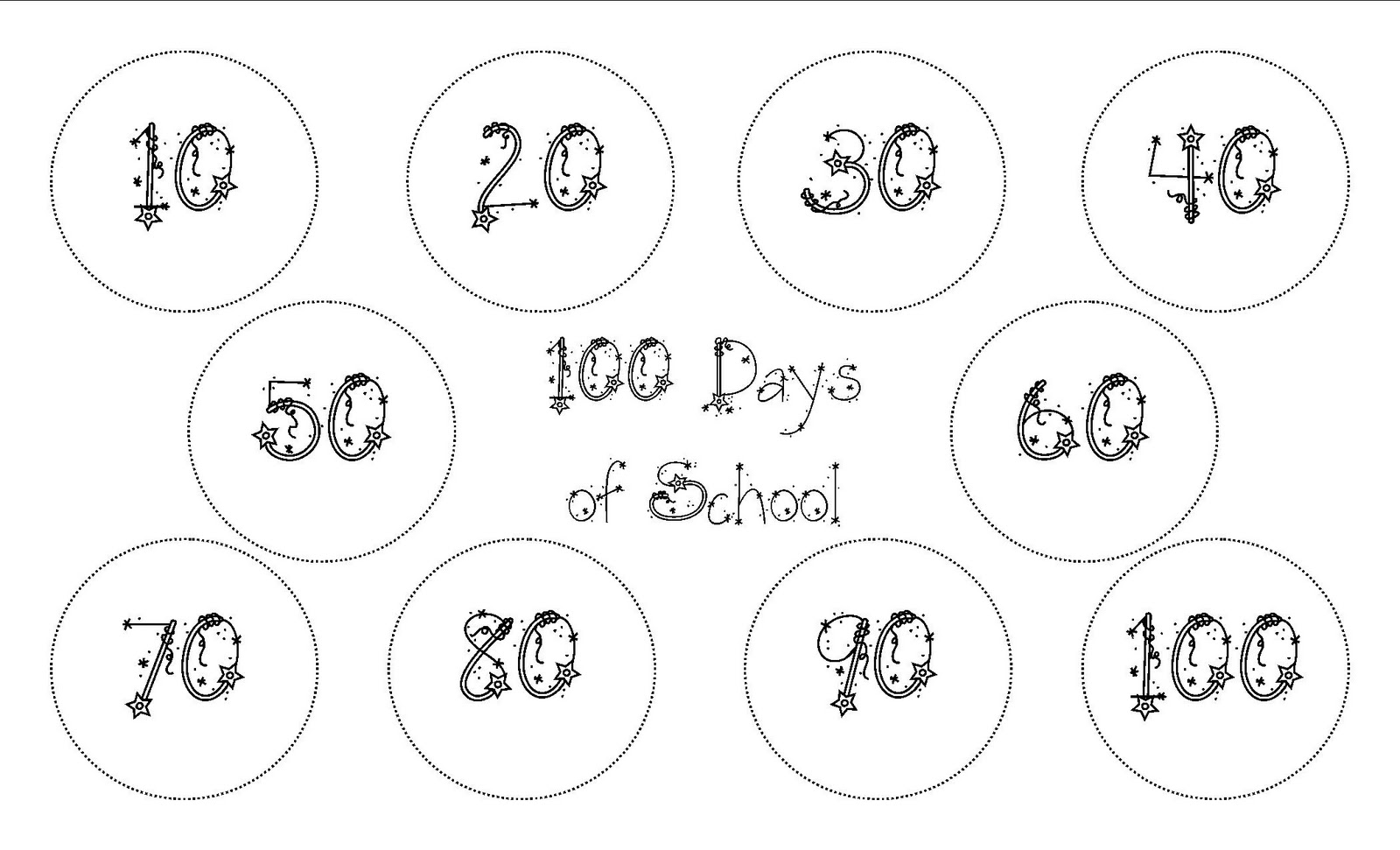 Klassy Kinders 100 Days Of School Freebie