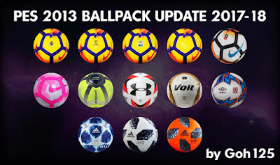PES 2013 Ballpack Update 2017/2018 by Goh 125