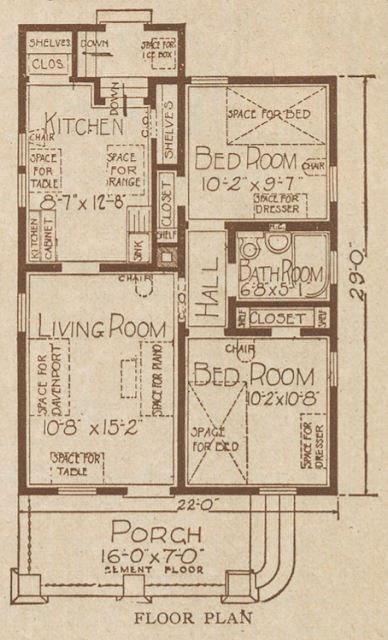 floor plan sears olivia 1925 catalog
