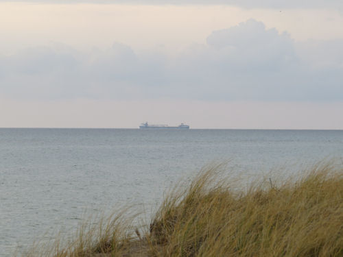 freighter on Lake Michigan