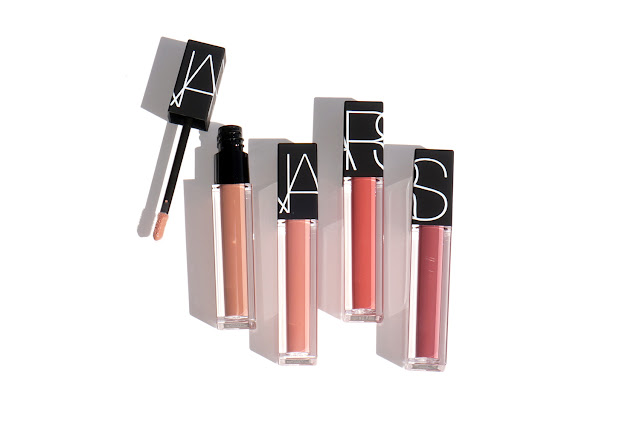 The Beauty Look Book NARS Velvet Lip Glide Stripped, Unlaced, Playpen, Bound