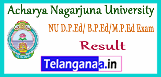 ANU Acharya Nagarjuna University B.P.Ed M.P.Ed D.P.Ed Exam Result 2017