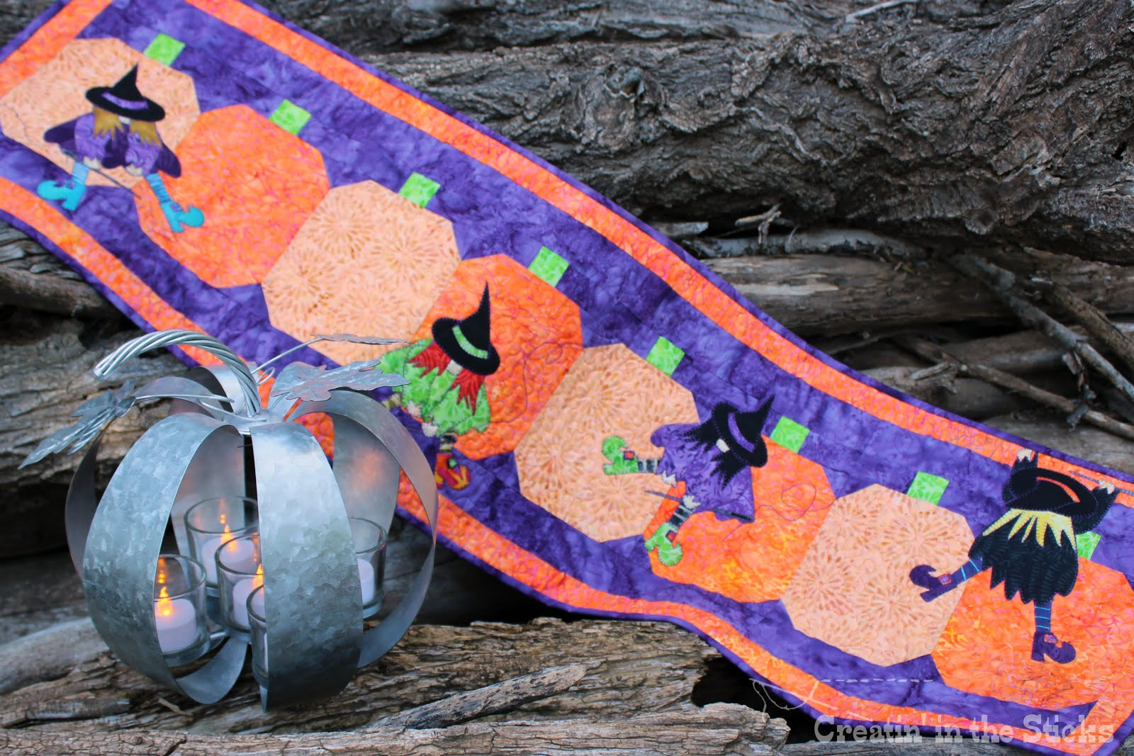 My newest pattern - Stitchy Witchy<br> (A Witches' Quilting Bee)