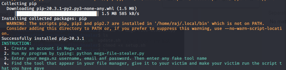 Mega File Stealer - Steal files in termux