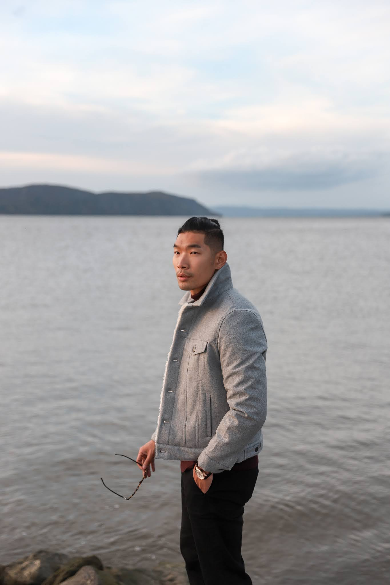 How To Style a Sherpa Trucker Jacket, Leo Chan of Levitate Style in Express Men