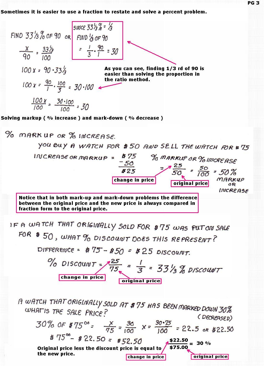 Cobb Adult Ed Math Solving Percent Problems And Using