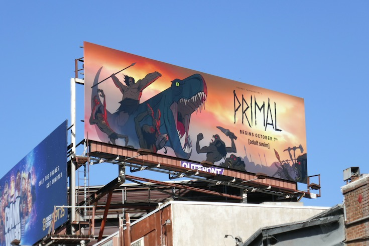 Primal series premiere billboard
