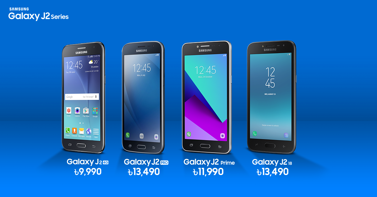 Samsung is currently offering 4 J2 series handset in Bangladesh