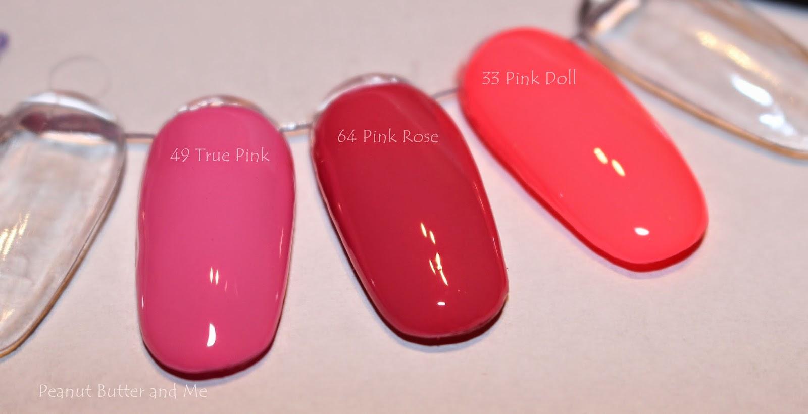 Gel nails semilac poland pink rose 064 64 doll 033 33 true pink 049 49 hybrydy lakier hybrydowy paznokcie nails różowy