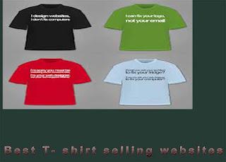 best t shirt selling websites