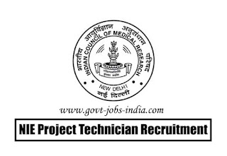 NIE Project Technician Recruitment 2020