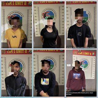 Sat Res Narkoba Polrestabes Makassar Amankan  Pemgguna Narkoba Satu Diantaranya Wanita