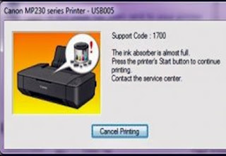 Error 1700 pada canon MP237