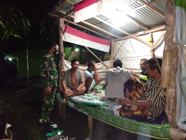 Jaga Kondusifitas Wilayah Babinsa Koramil Juwiring Lakukan Patroli Wilayah