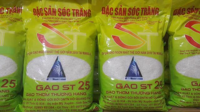 Gạo ST25 đóng bao 5kg