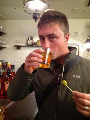 Uno spritz all'Aperol nel centro di Tokyo