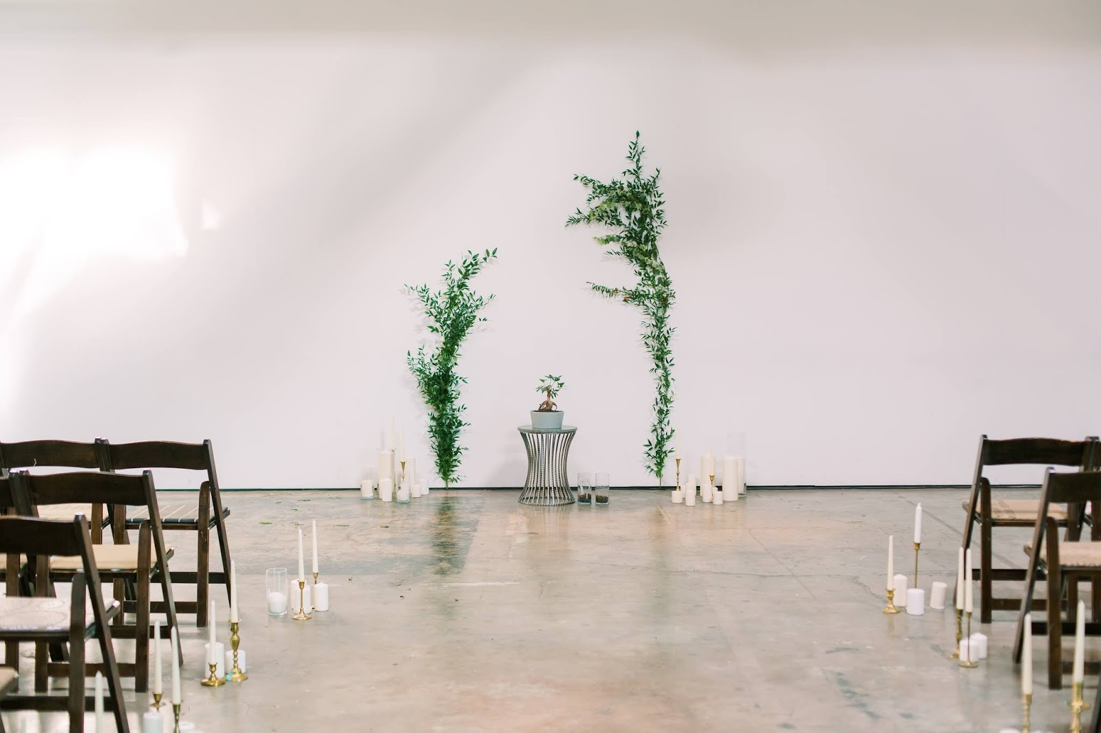 las vegas wedding, tree planting, candles