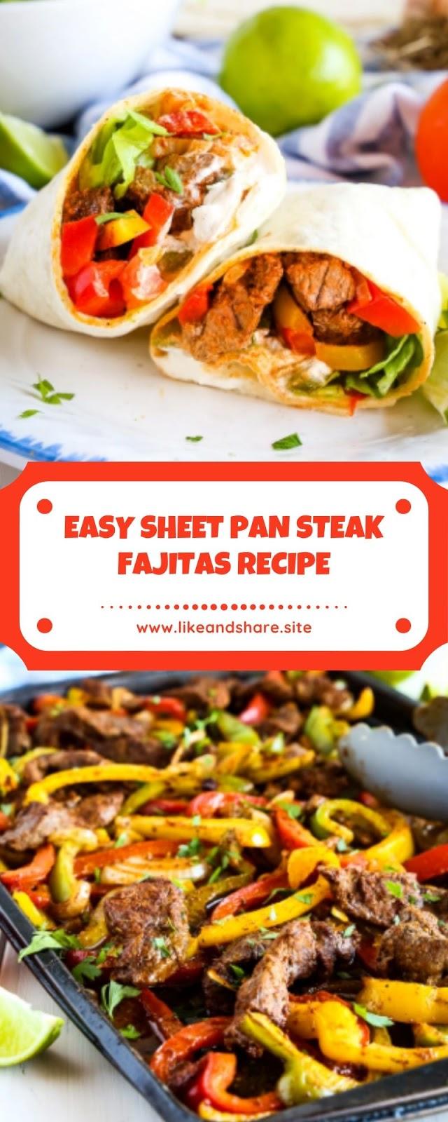 EASY SHEET PAN STEAK FAJITAS RECIPE
