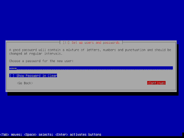 set up users and passwords instalasi debian 9.6