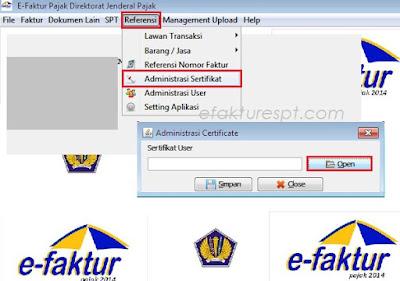 cara import ulang sertifikat elektronik efaktur