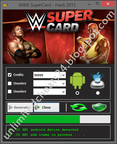 WWE Supercard Hack Tool 2015 | Android & iOS | Free Download Cheats ! No Survey No Password !