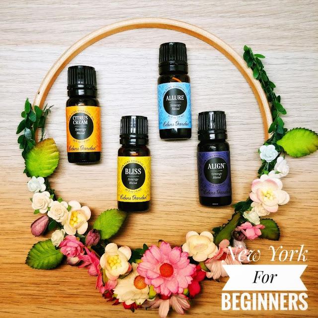 Four essential oils from edens garden, citrus dream, bliss, allure and align