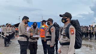 Apel Serpas Polres Pelabuhan, Personel Pam TPS Dibekali APD dan Vitamin