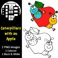 Apple and Bugs FREE Clipart