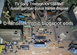 mengatasi tv sony trinitron rusak