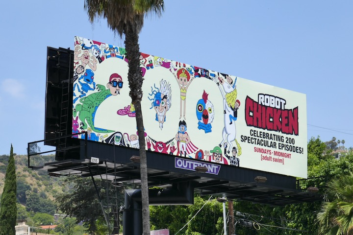 200 Robot Chicken episodes billboard