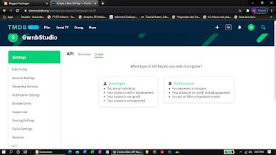 API Key TMDB