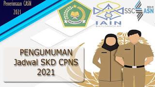 Pengumuman Jadwal dan Lokasi SKD CPNS IAIN Batusangkar Tahun 2021 Tahap III