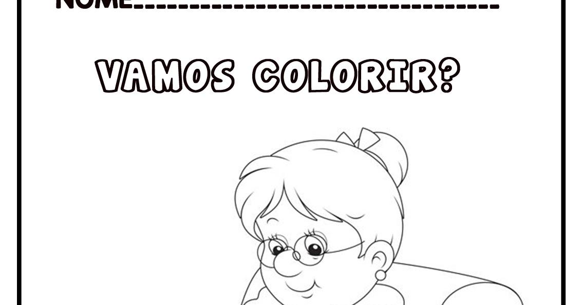 Desenho De Vovo Sentada No Sofa Tricotando Para Colorir Pintar