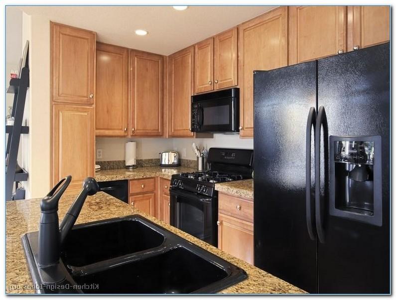 Kitchen Design With Black Appliances Home Interior Exterior Decor Design Ideas