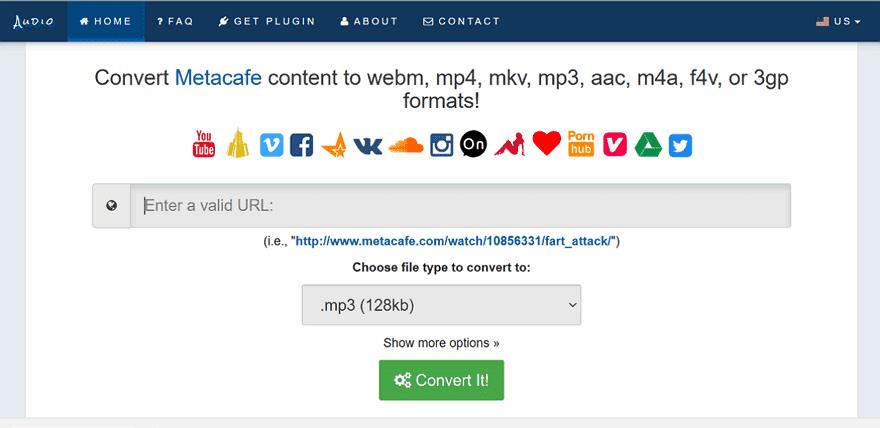 Audio.Rip網頁版下載器,可儲存YouTube、XVideos、Vimeo眾多網站的影片和音訊