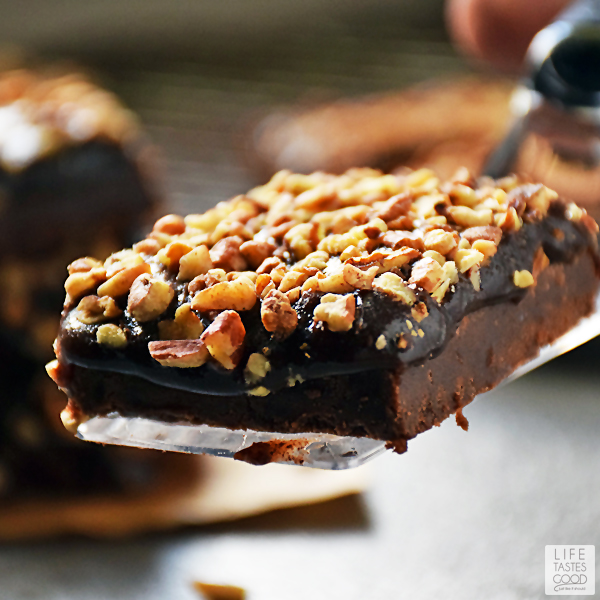Serving up Salted Chocolate Caramel Bars