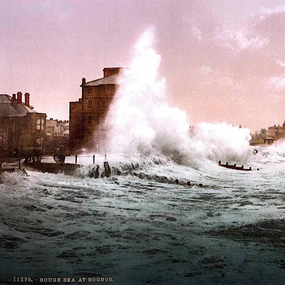 rough sea at Bognor 1895