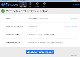 تحميل وتنصيب Malwarebytes Anti-Malware 2.2.1.1043 + patch & Serial Keys