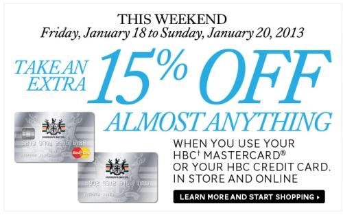 Hudson's Bay Mastercard Card Summary Earn up to 4 points per $1 with this no fee card, and then you can use your points to shop even more, or convert them to AIR MILES/5.