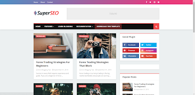Super SEO FriendlyBlogger Template
