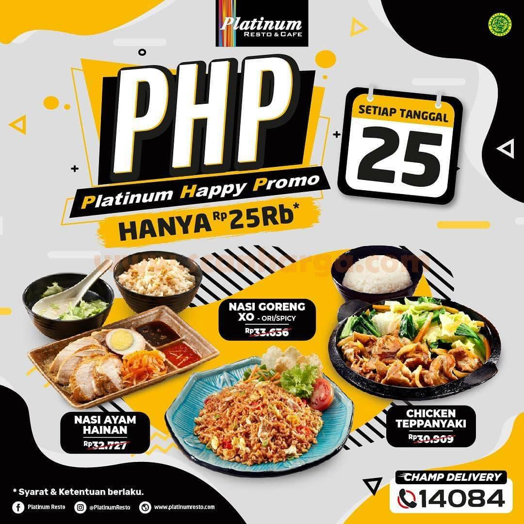 Platinum Happy Promo Paket PHP harga hanya Rp 25.000 setiap Tanggal 25