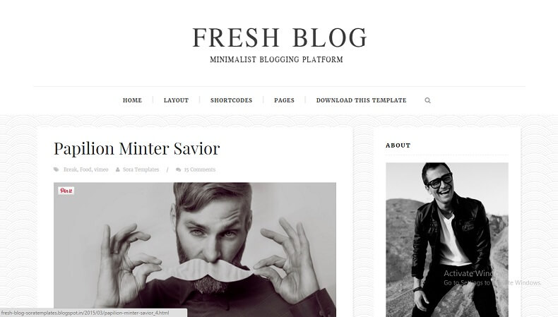 Download - Fresh Blog - Responsive Blogger Template