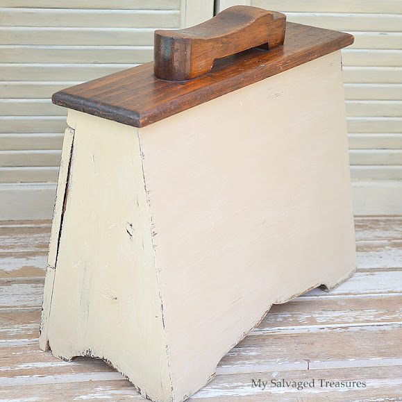 how to turn an old shoe shine box into a storage box