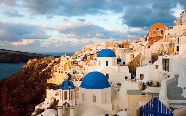 Restaurantes na ilha de Santorini, Grécia