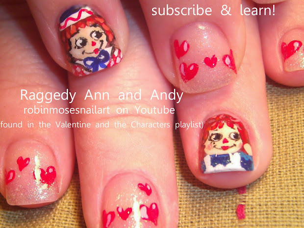 Ann and Raggedy Andy Nail Art