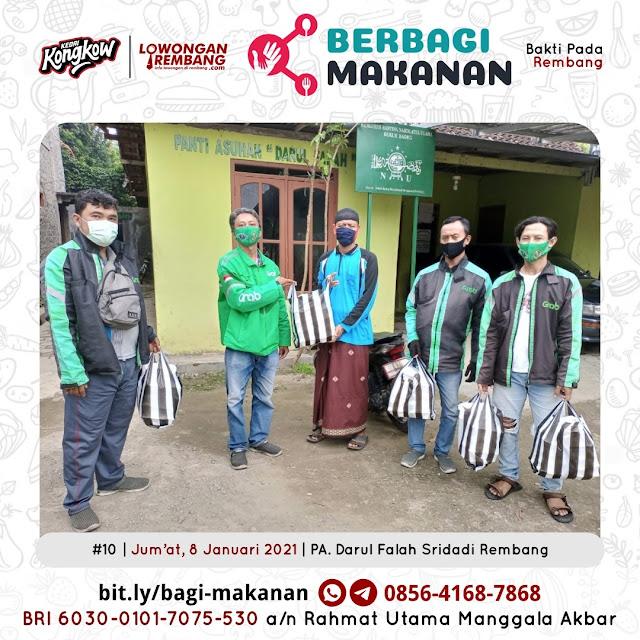 Dokumentasi Berbagi Makanan Ke-10 Dari Kedai Kongkow Rembang Dan Lowongan Rembang