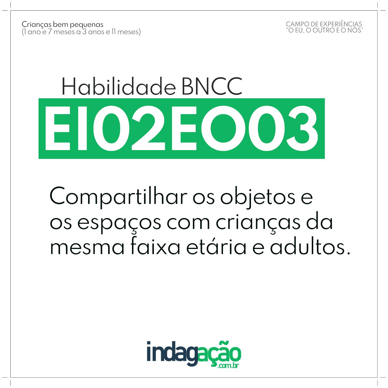 Habilidade EI02EO03 BNCC